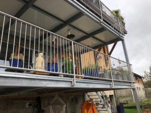 Réalisations serrurerie - double terrasse