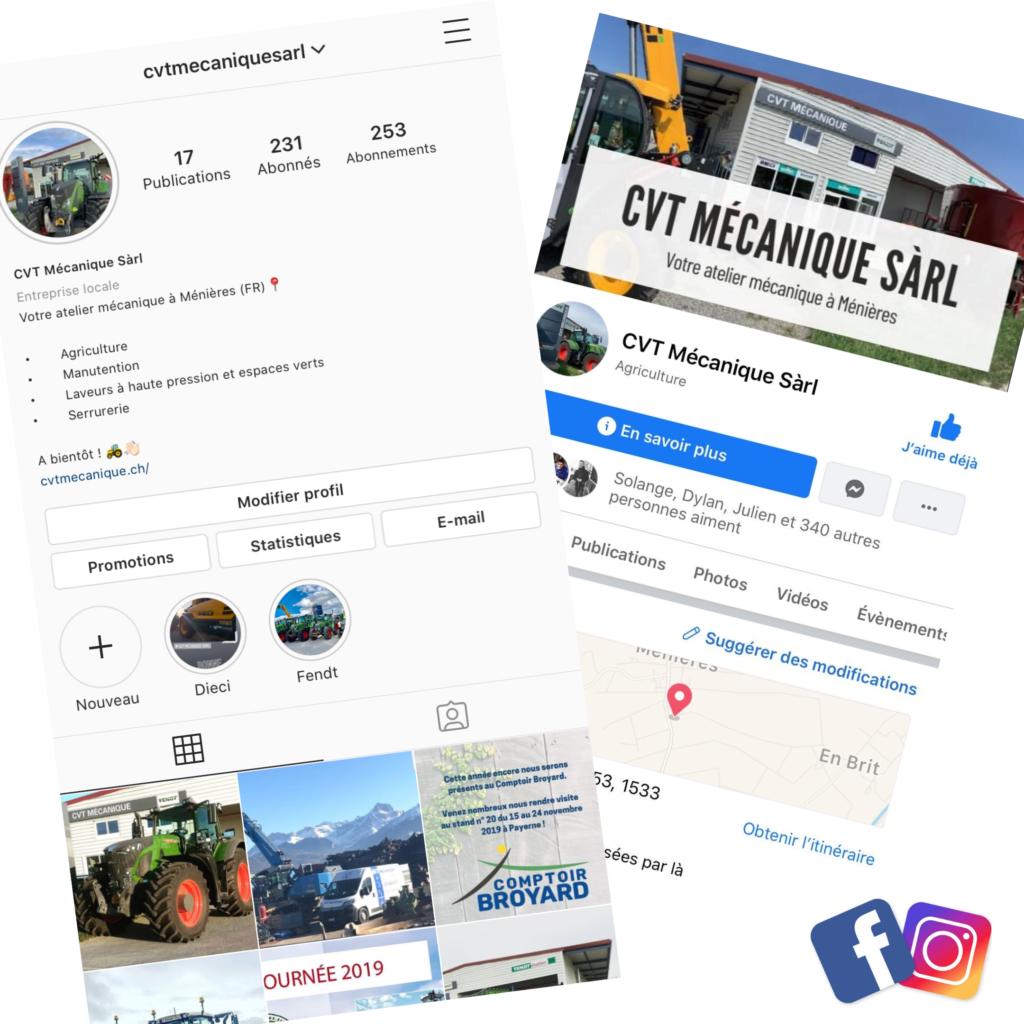 Réseaux sociaux : Instagram et Facebook - abonnez-vous !